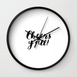 Party Like Gatsby Inspirational Quotes Wall Art Print Cheers Yall Printable Art Celebration Life Bar Wall Clock