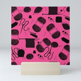 Yarn Pink Mini Art Print