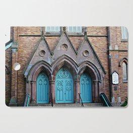 Three Turquoise Doors  Cutting Board