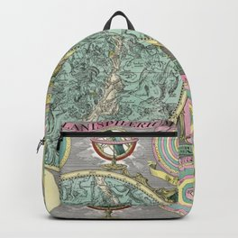 Vintage Astronomy Chart - Star Chart - Circa 1772 Backpack