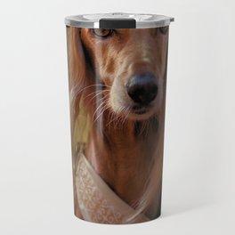 Saluki Portrait Of The Ancient Hound Travel Mug