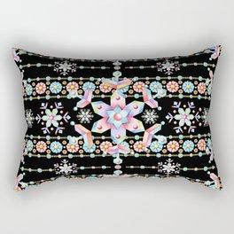 Folkloric Snowflakes Rectangular Pillow