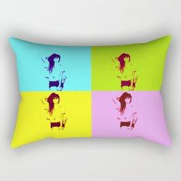 Synth-Pop Art Rectangular Pillow