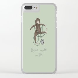 Bigfoot Caught on Film Clear iPhone Case