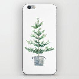 Christmas fir tree iPhone Skin