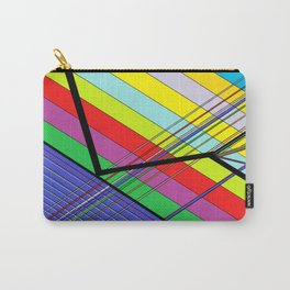 Diagonal Color Carry-All Pouch