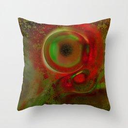 Cyclop fractal Throw Pillow