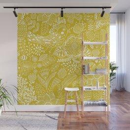 Yellow birds Wall Mural