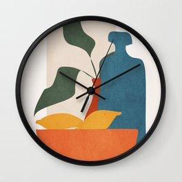 Minimalist Still Life Art Wall Clock