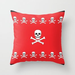 Classic skull duvet Throw Pillow