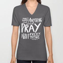 Dont Worry, Pray x Rose Unisex V-Neck