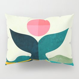 mid century whale sun sea Pillow Sham