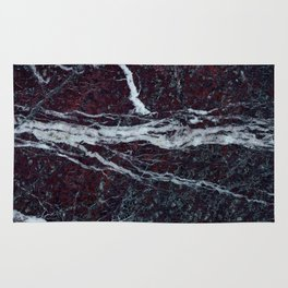 Black marble with white vains marble print luxuous real rock marble surface texture Rug