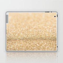 Beautiful champagne gold glitter sparkles Laptop & iPad Skin