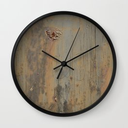Disgusting Grungy Rusty Wounded Painted Metal Wall Clock