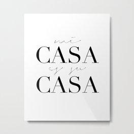 HOME DECOR,Home Sweet Home Sign,Mi Casa Es Su Casa,Modern Art,Spanish Decor,Spanish Sign,Home Sign Metal Print