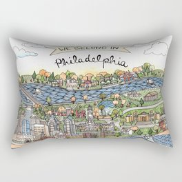 We Belong in Philadelphia! Rectangular Pillow