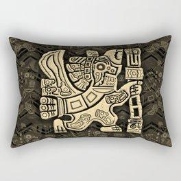 Aztec Eagle Warrior Rectangular Pillow
