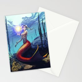 Mermaid Chun Li Stationery Cards