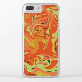 Papaya Juice Clear iPhone Case