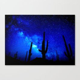 The Milky Way Blue Canvas Print