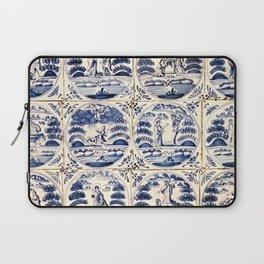 Dutch Delft Blue Tiles Laptop Sleeve