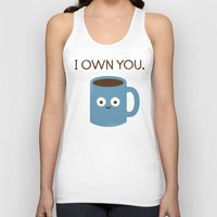 scary Tank Tops featuring Coffee Talk by David Olenick
