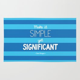 Simple Yet Significant Rug
