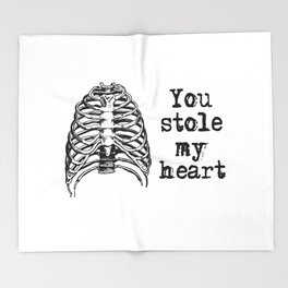 You stole my heart Throw Blanket