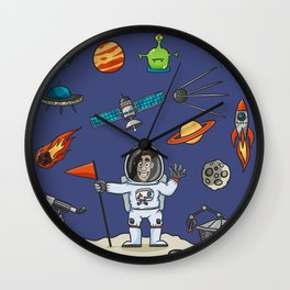 Space Elements Set Wall Clock