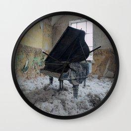 The Grand, abandoned piano Wall Clock