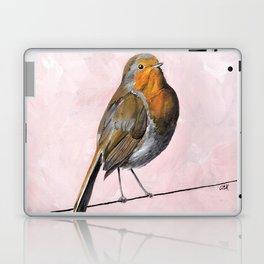 Robin Redbreast, Orange Bird Art Laptop & iPad Skin