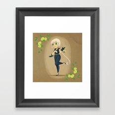 Retro Sailor Star Healer Framed Art Print