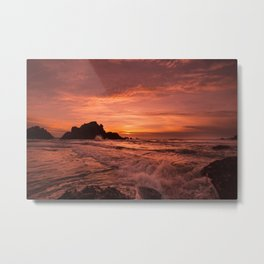 Pacific Sunset. Metal Print