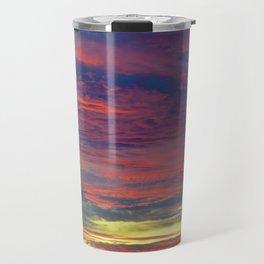 Cotton Candy coloured sky Travel Mug