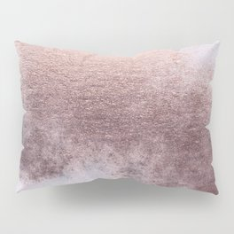 Princess Retro Rose Gold Blush Pillow Sham