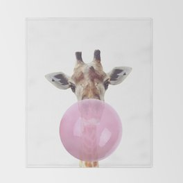Bubble Gum - Giraffe Throw Blanket