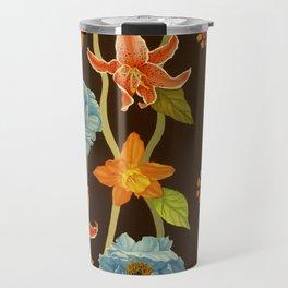 Vintage Flowery Serpentine Travel Mug