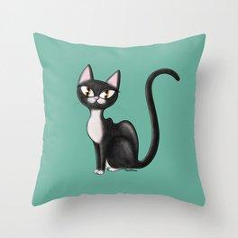 tux coot Throw Pillow