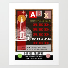 Alpha Beta Chi Sorority - Emory & Henry College Art Print