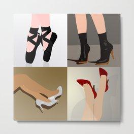 Shoe Crazy Metal Print