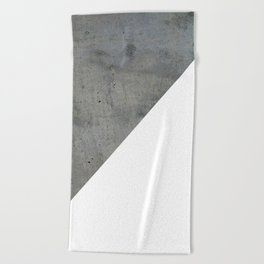Concrete Vs White Beach Towel
