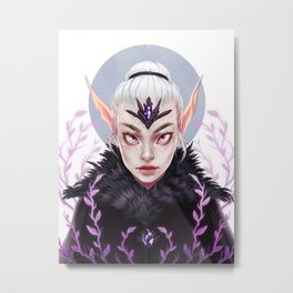 Elf Nature Witch Metal Print