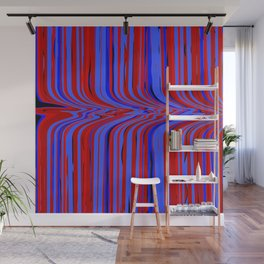 red and blue flowing Wall Mural