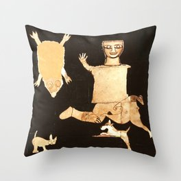THE NAME OF THIS PAINTING IS... Throw Pillow