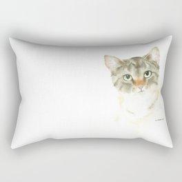 catitude - brown tabby cat Rectangular Pillow