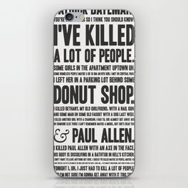 American Psycho - Patrick Bateman's Confession iPhone Skin
