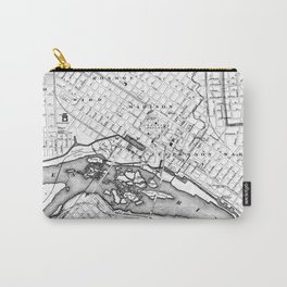 Vintage Map of Richmond Virginia (1884) BW Carry-All Pouch