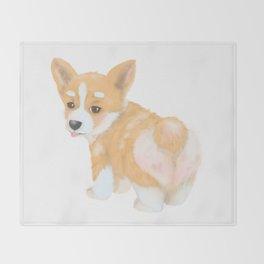 Welsh Corgi puppy Throw Blanket
