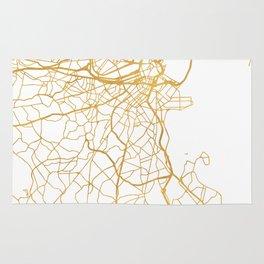 BOSTON MASSACHUSETTS CITY STREET MAP ART Rug